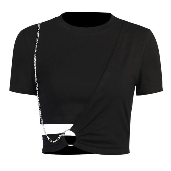 Ring and Chain Wrap Top