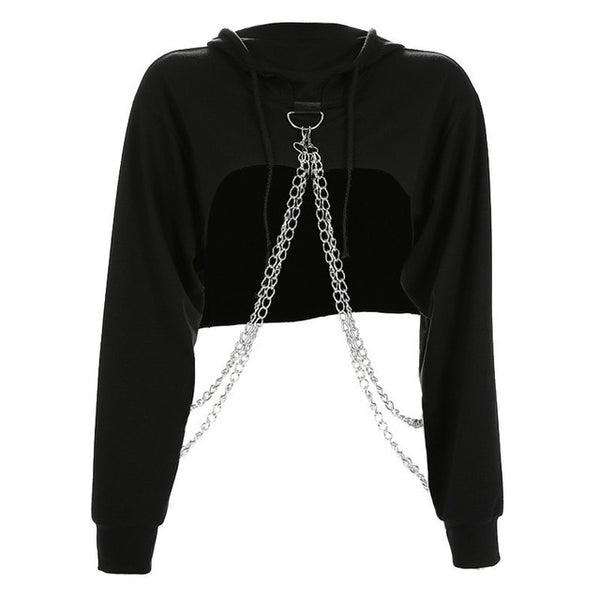 Chain Extreme Crop Hoodie