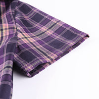 Purple Plaid Zip Top