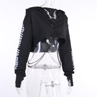 Reflective Extreme Crop Hoodie