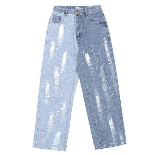 Unisex Half and Half Jeans
