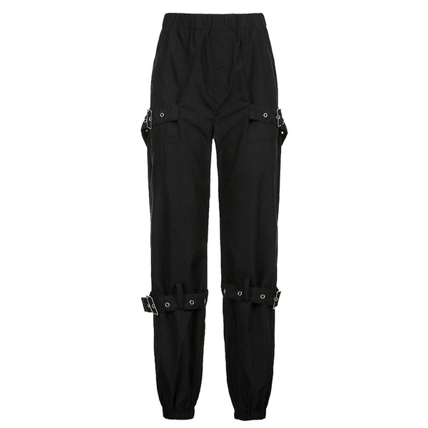 Buckle Cargo Trousers