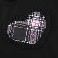 Plaid Heart Two Piece Top