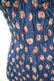 1940s Anchor print shirred Peter Pan swimsuit