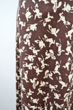 1970s Novelty print cops & robbers brown cotton maxi skirt