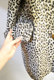 1960s Leopard print velveteen loose fit cuffed coat