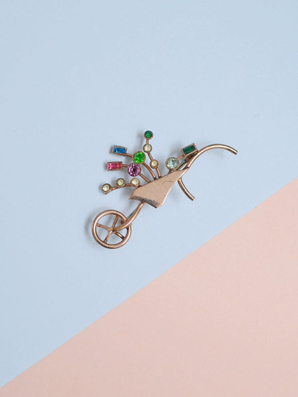 The Wheelbarrow brooch