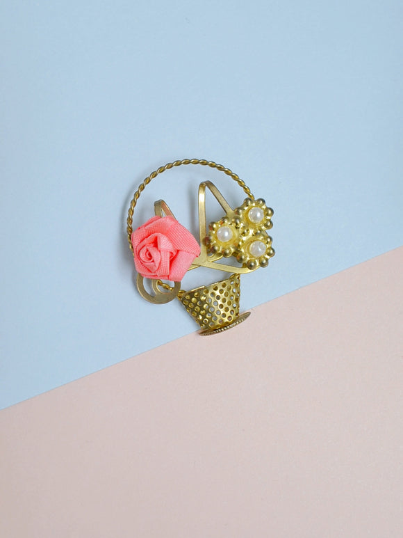 The Flower Basket brooch