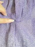1970s Purple lurex Big Scene hooded maxi dress or jacket