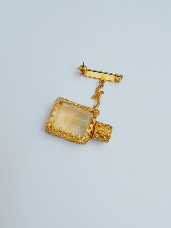 The Guinevere scent bottle brooch