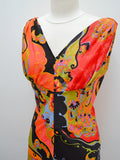 1970s Psychedelic multicoloured maxi dress