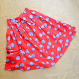 1950s 60s Red coin novelty print cotton skirt - Small Medium