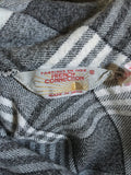 1980s French Connection grey check slouchy roll neck dress
