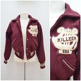 1940s Burgundy wool band letterman/varsity jacket