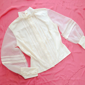 The Poet blouse in peach nylon
