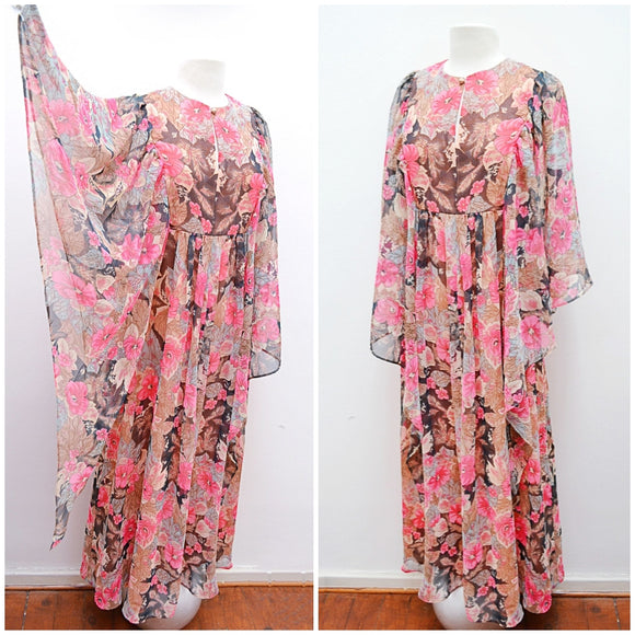 The Ophelia dress in floral chiffon