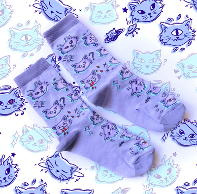 Cute Kittens Socks - tamaishidesign