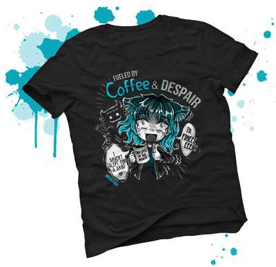 Coffee & Despair T-shirt WHITE  version - tamaishidesign