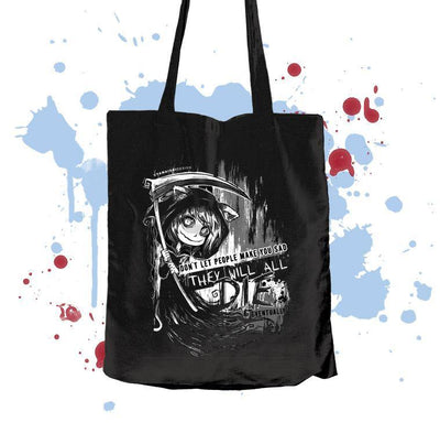 They will all die  Textile bag - tamaishidesign