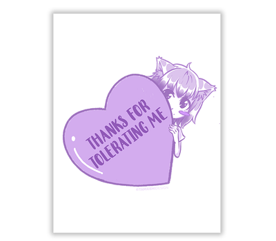 Thanks for tolerating me card - tamaishidesign