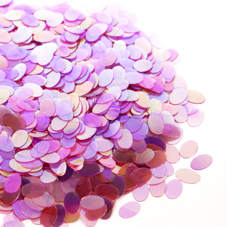 Art.2445 Lentejuela Confeti Oval 8mm 500g