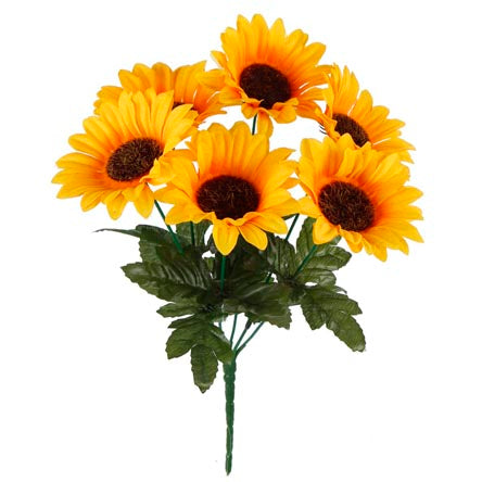 Art.4640 Bush  Fino Girasoles x6 31cm 1pz