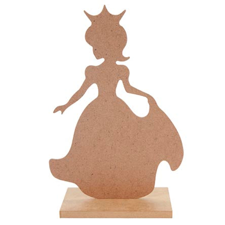 Art.9166 Princesa Con Base 24.5x16x7cm 1pz