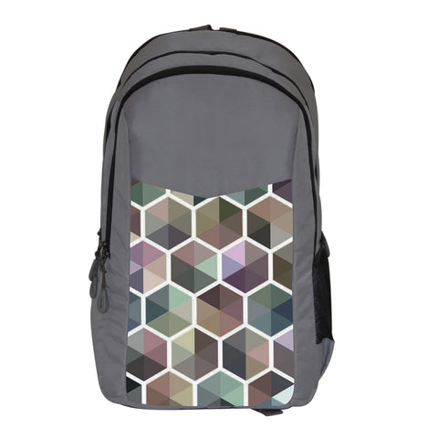 Abstract Grey Backpack