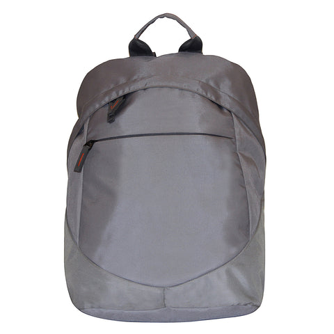 All Grey Polyester Backpack-02