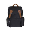Black Buckled Rucksack