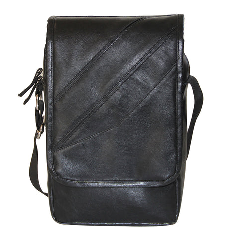Black Faux Leather Sling Bag-I