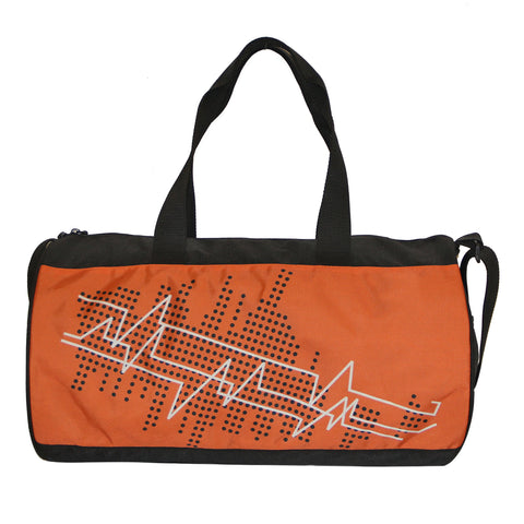 Black & Orange Gym Duffle