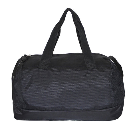 Black Polyester Basic Duffle bag