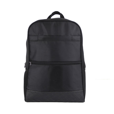 Black Polyester Regular Backpack