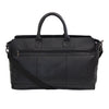 Black Premium Faux Leather Duffle