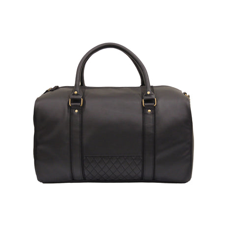 Black Quilted Travel Bag