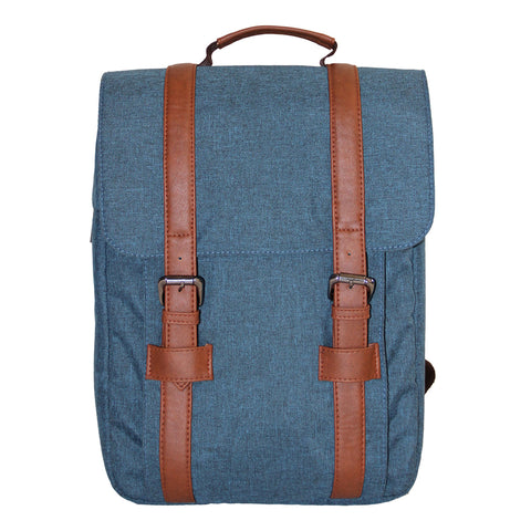 Blue Flap Backpack