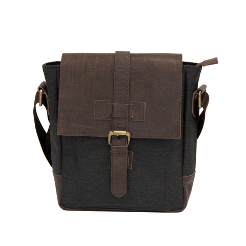 Brown & Grey Cross Body Bag