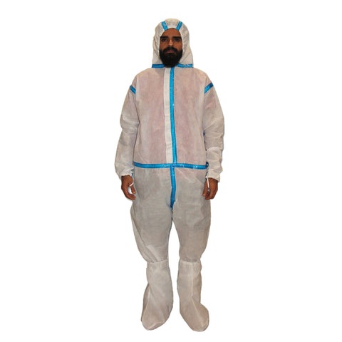 PPE White Coverall CR#PPE-08