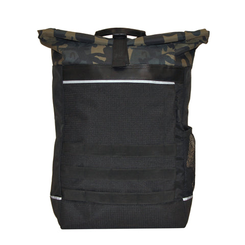 Camouflage Roll Top Backpack