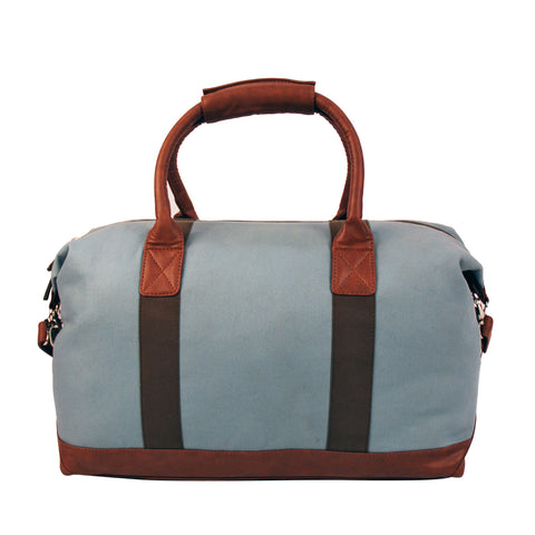 Canvas & Faux Leather Travel Bag