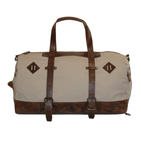 Canvas & Leather Duffle Bag