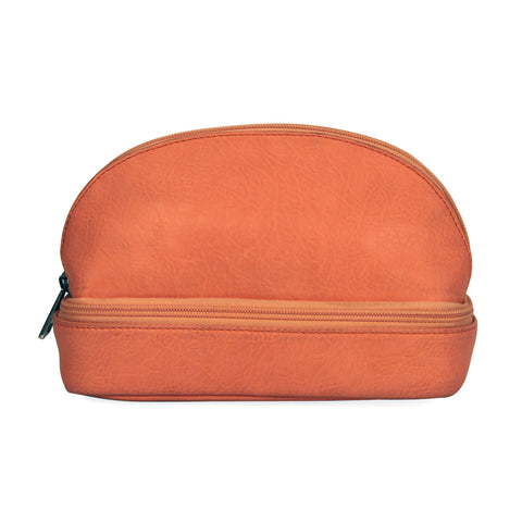 Peach Faux Leather Cosmetic Kit