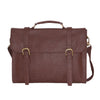 Dark Brown PU Shoulder Bag