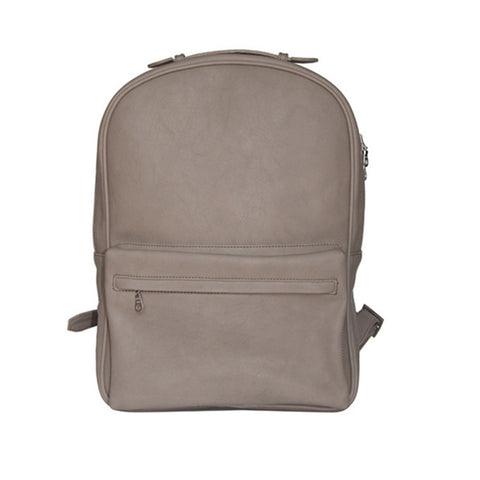 Grey PU Backpack