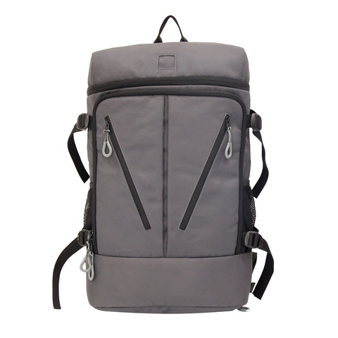 Grey Polyester Backpack