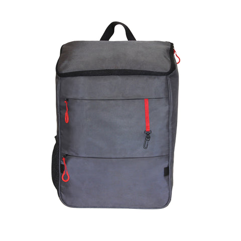 Grey Red Backpack
