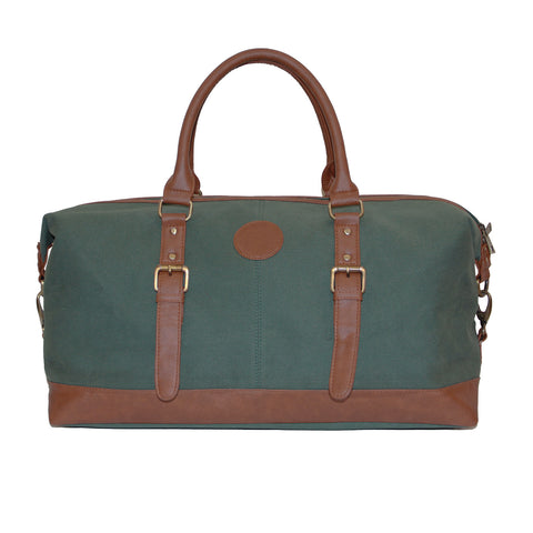 Green Canvas Duffle