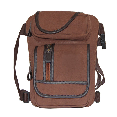 Brown Canvas Waist Bag