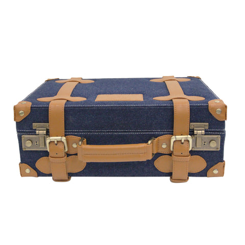 Mini Denim & Faux Leather Trunk